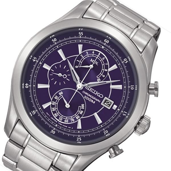 【逆輸入SEIKO5】セイコー SEIKO クオーツ クロノ メンズ 腕時計 SPC165P1 ネイビー
