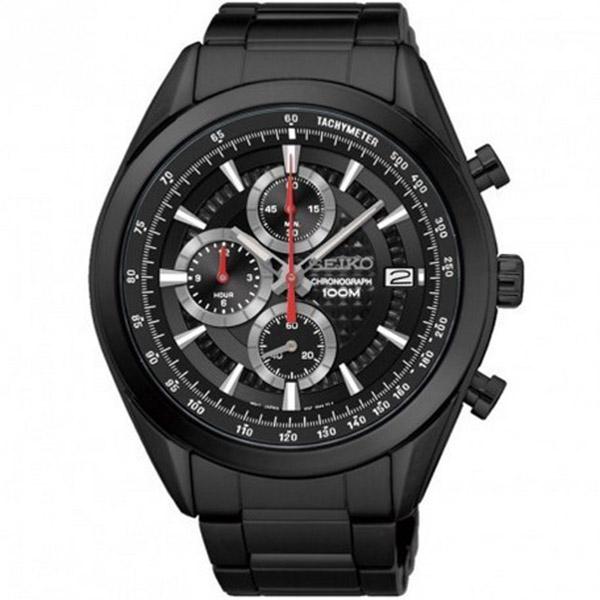 【逆輸入SEIKO】セイコー SEIKO クロノ クオーツ メンズ 腕時計 SSB179P1 ブラック