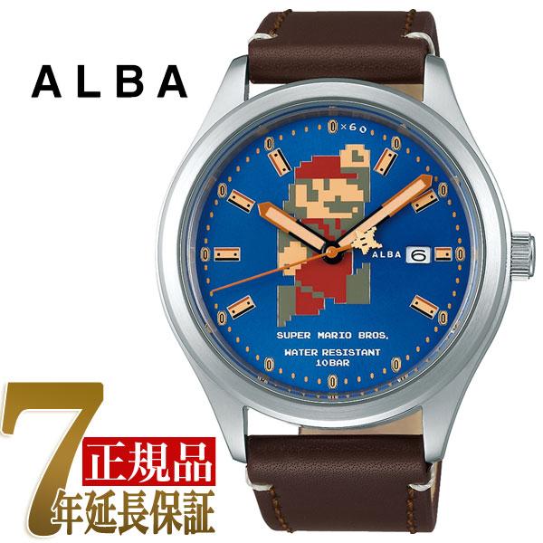 セイコー アルバ SEIKO ALBA 自動巻き メンズ 腕時計 スーパーマリオコラボ ビッグサイズマリオシリーズ キノコマリオ ACCA401