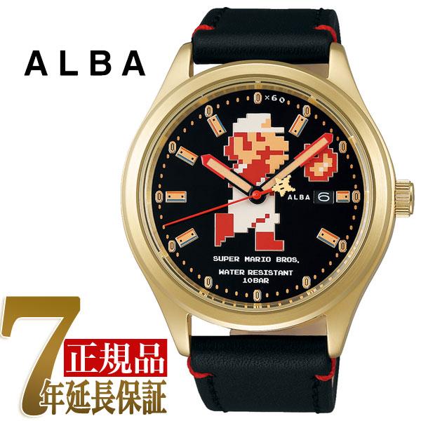 【正規品】セイコー アルバ SEIKO ALBA 自動巻き メンズ 腕時計 スーパーマリオコラボ ビッグサイズマリオシリーズ ファイアーマリオ ACCA701【あす楽】