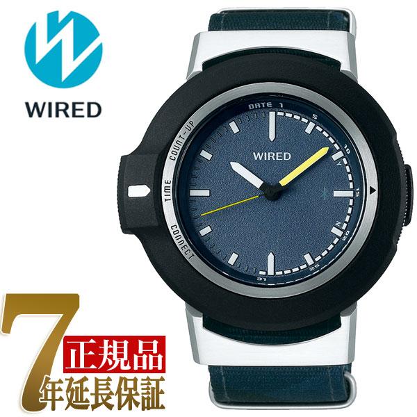 【正規品】セイコー SEIKO ワイアード ツーダブ WIRED WW TYPE01 ON スマートウオッチ Bluetooth メンズ 腕時計 AGAB404