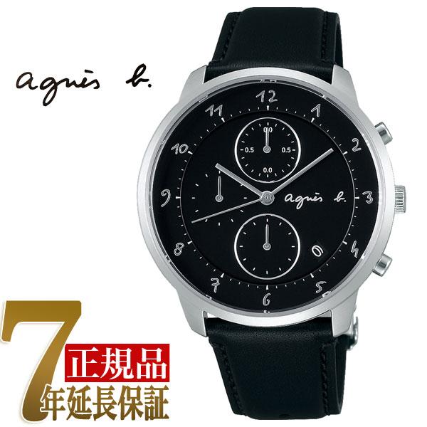 【agnes b.】アニエスベー マルチェロ Marcello メンズ クオーツ クロノグラフ 腕時計 FBRW987