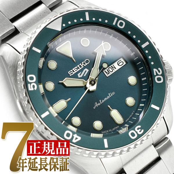 【おまけ付き】【正規品】セイコー5スポーツ スポーツスタイル 自動巻き 手巻き付き メカニカル 機械式 腕時計 流通限定モデル ブルーグリーン ダイアル メタル ベルト SBSA011