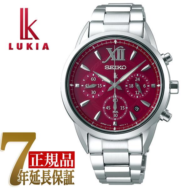 【母の日ギフト】【正規品】セイコー ルキア SEIKO LUKIA ソーラー クロノグラフ 腕時計 レディース 綾瀬はるか SSVS039