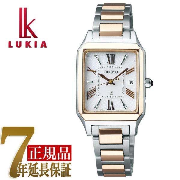 【母の日ギフト】【正規品】セイコー ルキア SEIKO LUKIA レディーゴールド Lady Gold スクエア ソーラー 電波 レディース 腕時計 綾瀬はるか SSVW160