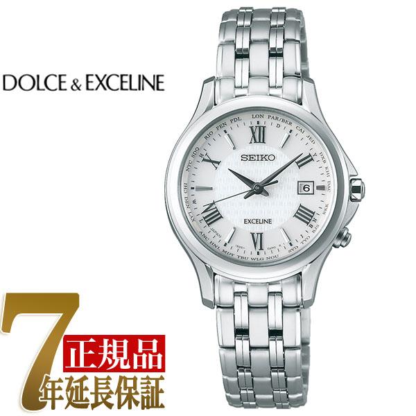 【母の日ギフト】【正規品】セイコー ドルチェ&エクセリーヌ SEIKO DOLCE&EXCELINE ソーラー 電波 レディース 腕時計 SWCW161