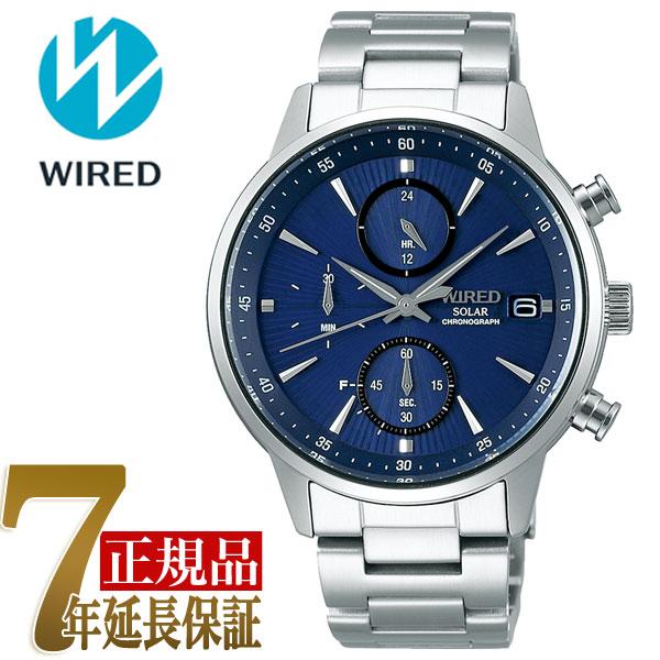 セイコー ワイアード SEIKO WIRED クロノグラフ ソーラー ユニセックス 腕時計 AGAD407