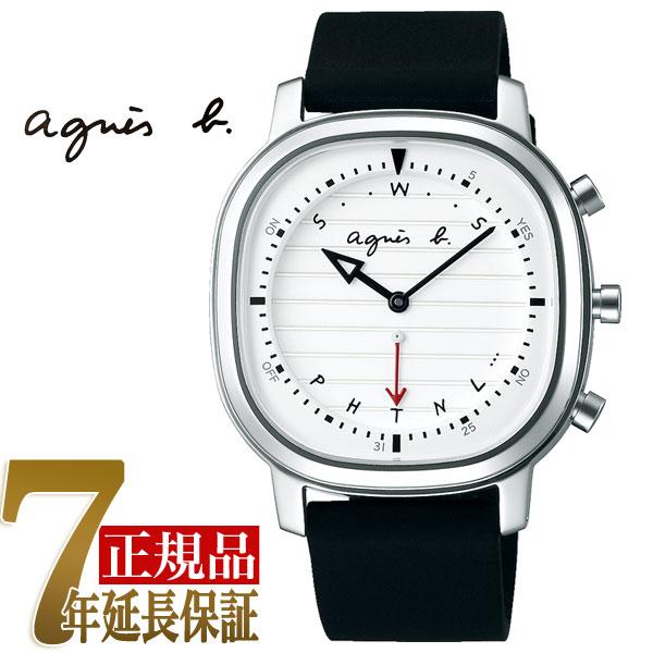 【正規品】アニエスベー agnes b. Bon Voyage! Bluetooth スマートウオッチ メンズ 腕時計 ホワイト FCRB401