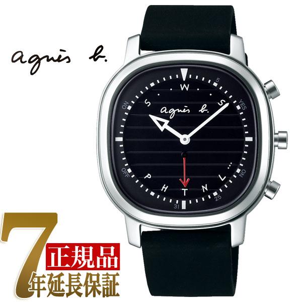 【正規品】アニエスベー agnes b. Bon Voyage! Bluetooth スマートウオッチ メンズ 腕時計 ブラック FCRB402