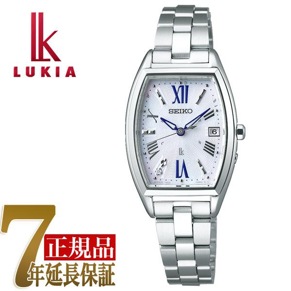 【母の日ギフト】【正規品】セイコー ルキア SEIKO LUKIA ソーラー 電波 レディース 腕時計 綾瀬はるか ホワイト SSVW165