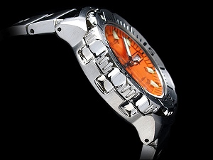 Seiko メンズダイバーズ automatic watch Orange Monster silver stainless steel belt SKX781K1