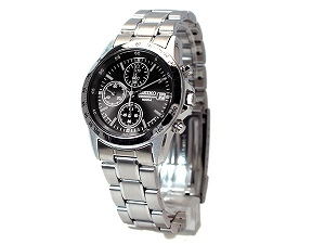 Seiko high-speed chronograph mens watch black letter Edition SND367P1
