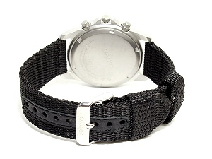 Seiko high-speed Chronograph Watch black letter Edition mesh belt SND399P1