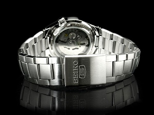 Seiko 5 mens automatic watch ダイヤカットダークブラウン dial-silver stainless steel belt SNK605K1