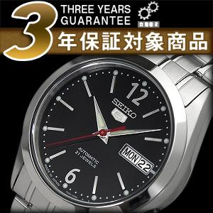 精工 5 daydaytocalendar SNKF01J1 男士自动手表黑色表盘银色不锈钢带