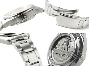 Seiko 5 mens Automatic Watch Silver Dial stainless steel belt SNXA19K