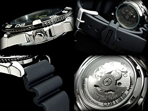 Seiko 5 men's automatic self-winding watch IP black bezel ギョーシエ black dial polyurethane belt SNZB23J2