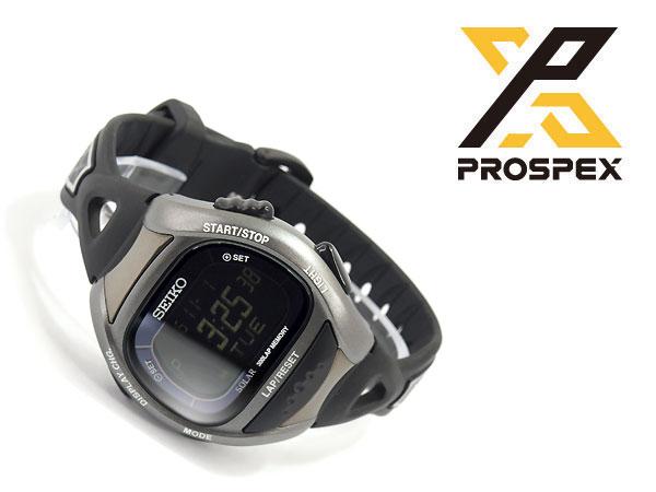精工 ProspEx 超级跑步太阳能数字手表,运行观看黑 SBEF031