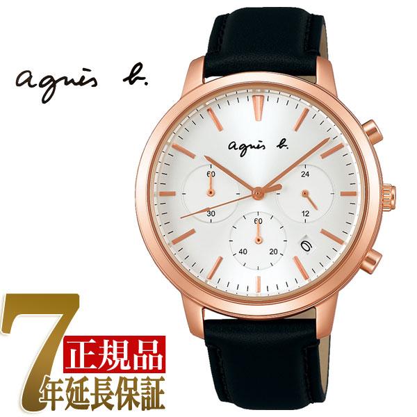 【正規品】アニエスベー agnes b. オム メンズ クロノグラフ 腕時計 ペアモデル FCRT965