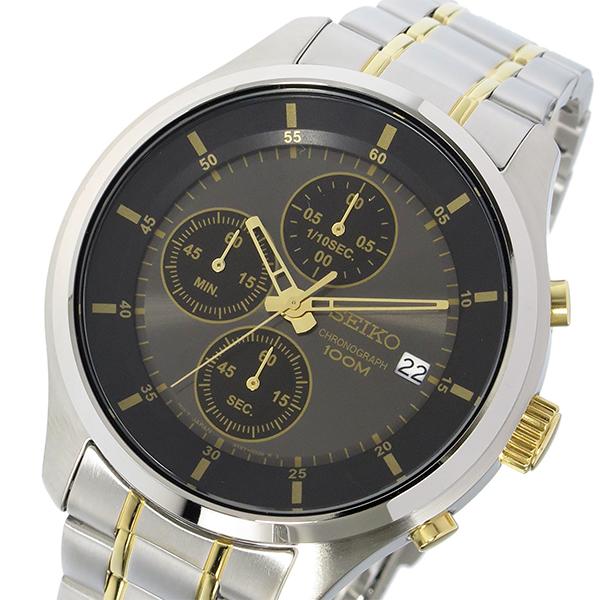 逆輸入セイコー 逆輸入SEIKO クロノ クオーツ メンズ 腕時計 SKS543P1 ブラック