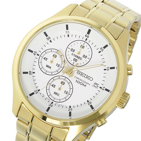 逆輸入セイコー 逆輸入SEIKO クロノ クオーツ メンズ 腕時計 SKS544P1 ホワイト