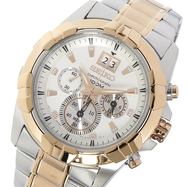 セイコー SEIKO ロード LORD クロノ クオーツ メンズ 腕時計 SPC188P1 ホワイト