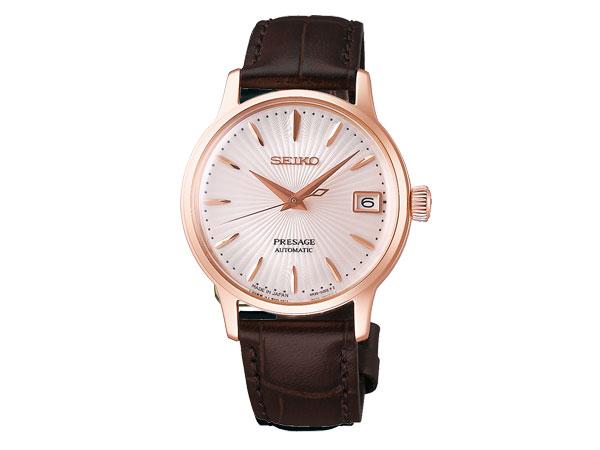 【SEIKO PRESAGE】 セイコー プレザージュ ベーシックライン レディース 手巻き付き 自動巻き腕時計 メカニカル カクテルシリーズ ベリーニ SRRY028
