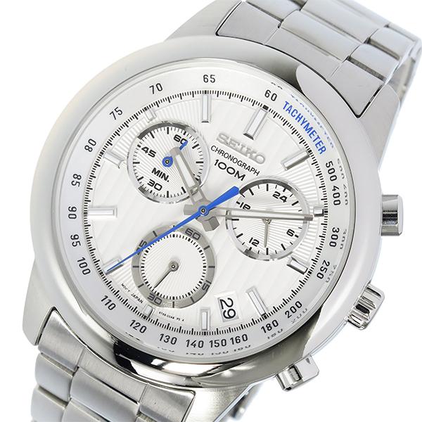 【待望★】 セイコー SEIKO クロノ クオーツ メンズ 腕時計 SSB203P1 ホワイト, でに丸 b8bdd340