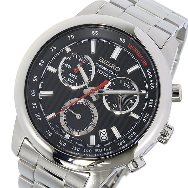 セイコー SEIKO クロノ クオーツ メンズ 腕時計 SSB205P1 ブラック