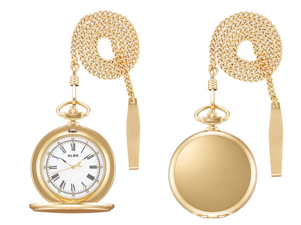 【SEIKO ALBA】セイコー アルバ ポケットウオッチ SEIKO ALBA POCKET WATCH 懐中時計 提げ時計 メンズ レディース AQGK450