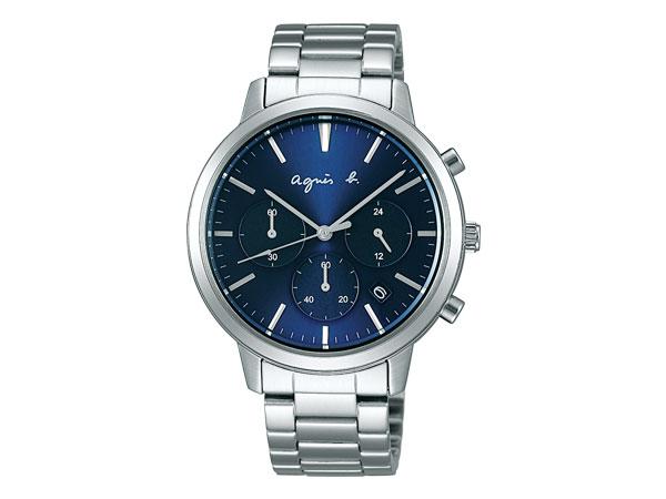 アニエスベー agnes b. サム SAM メンズ 腕時計 ペアモデル ブルー ダイアル FCRT968