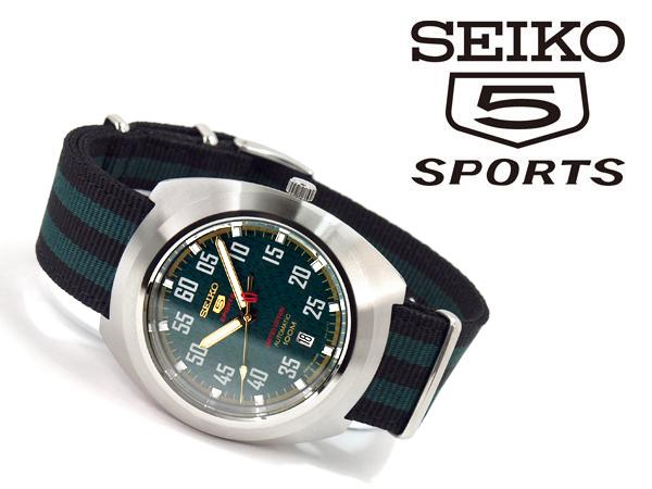 3ad15eb049 ... 逆輸入SEIKO5SPORTS】セイコーファイブスポーツ海外モデル自動巻きメンズ腕時計グリ− ...