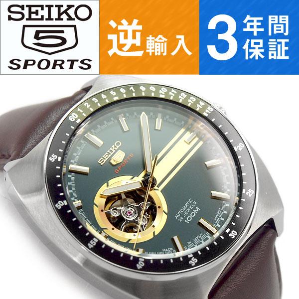 【楽天市場】【逆輸入 SEIKO5 SPORTS】日本製 自動巻き 手巻き付き機械式 メンズ 腕時計 カーキグリーン×ゴールドダイアル ブラウン レザーベルト SSA333J1【あす楽】:セイコー時計専門店 スリーエス