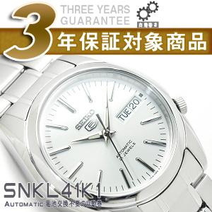 【楽天市場】【逆輸入SEIKO5】セイコー5 メンズ 自動巻き 腕時計 シルバーダイアル シルバーコンビステンレスベルト SNKL41K1【AYC】:セイコー時計専門店 スリーエス