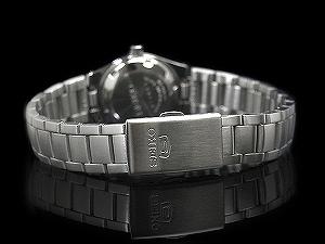 自动拧精工5女士,并且是手表列车时间表cut银子拨盘不锈钢皮带SYMC07K1