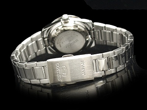 Seiko 5 Womens automatic watch White Dial stainless steel belt SYMG45J1