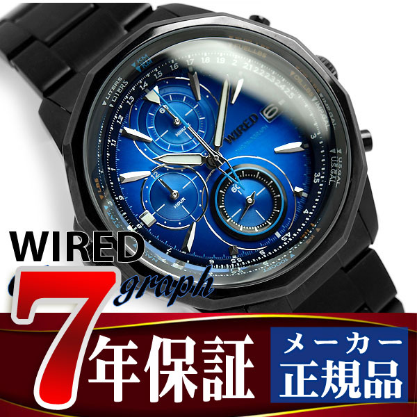 34a64ec3f4d5 SEIKO WIRED wired THE BLUE the-blue men s Casio Chronograph blue black  AGAW421