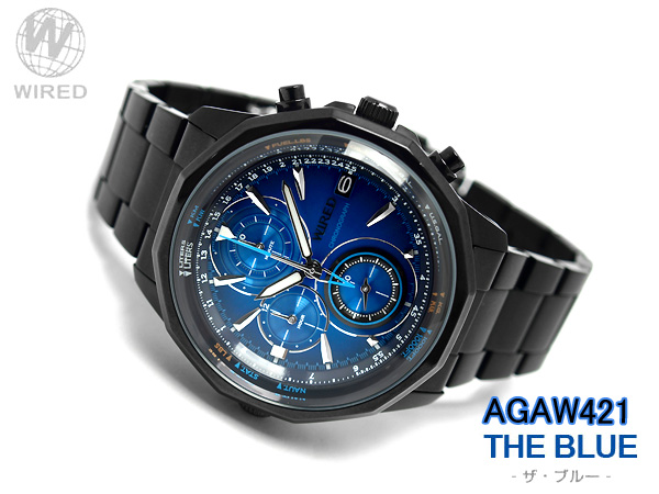 Seiko wired THE BLUE the blue mens watch chronograph blue black AGAW421