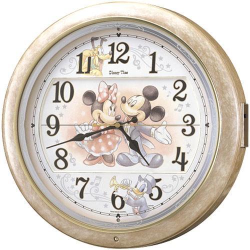 【SEIKO CLOCK】セイコー Disney ディズニー ミッキー からくり 電波掛時計 FW561A
