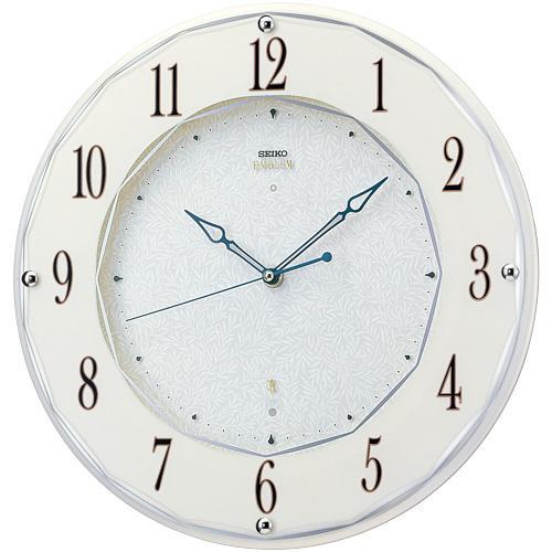 【SEIKO CLOCK EMBLEM】セイコー エムブレム エレガント スワロフスキー 電波掛時計 HS524W【送料無料】