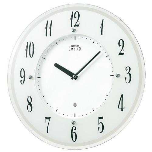 【正規品】セイコー エムブレム SEIKO CLOCK EMBLEM スタイリッシュモダン ソーラー 電波掛時計 HS533W