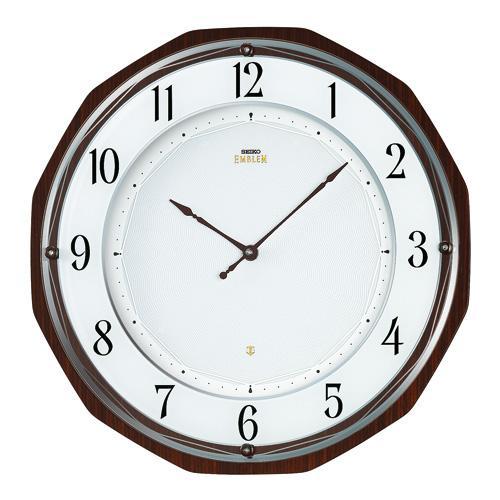 【正規品】セイコー エムブレム SEIKO CLOCK EMBLEM オーセンティック ソーラー 電波掛時計 HS536B