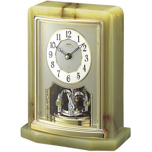 【正規品】セイコー エムブレム SEIKO CLOCK EMBLEM オーセンティック 置時計 スワロフスキー HW465G