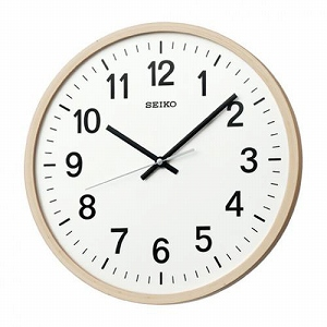 Seiko la-clock wall clock wood frame bending wood plywood natural color wooden painted KX403B