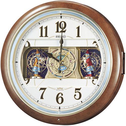 【SEIKO CLOCK】セイコー ウエーブシンフォニー からくり 電波掛時計 RE559H