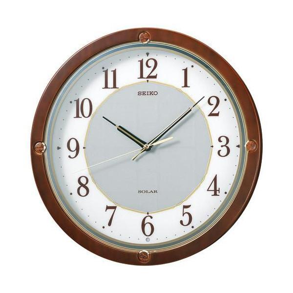 【正規品】セイコー SEIKO CLOCK SOLAR+ ソーラープラス 木枠 電波掛時計 SF232B