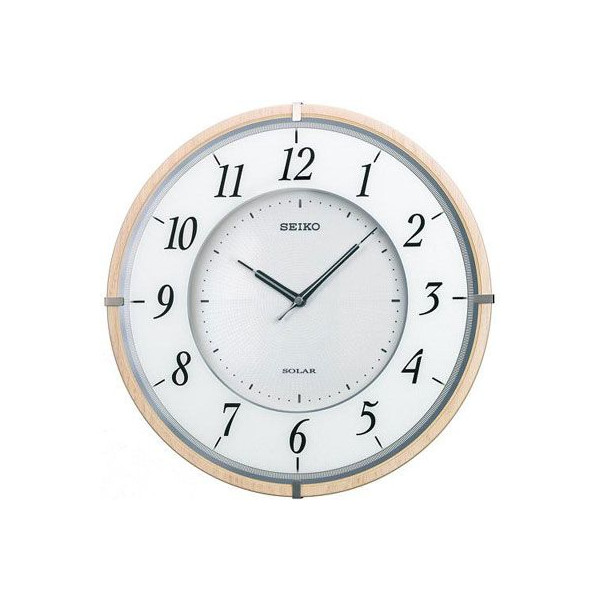 【SEIKO CLOCK】セイコー SOLAR+ ソーラープラス 薄型 木枠 電波掛時計 SF501B