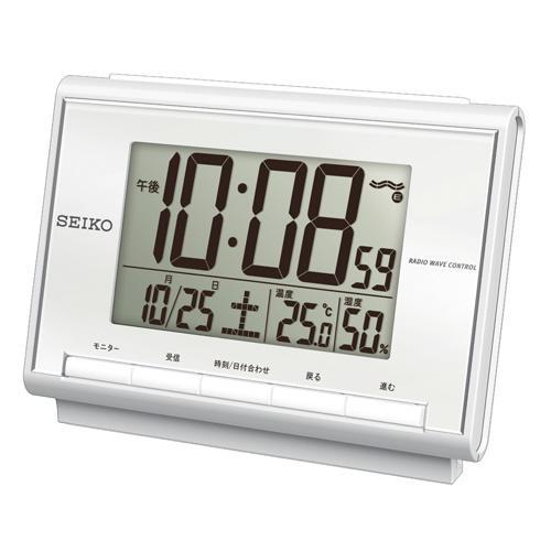 SEIKO セイコー デジタル 付与 温湿度表示 SQ698S 正規品 絶品 電波目覚まし時計 CLOCK