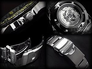 精工 100 周年纪念有限模型精工 5 体育男装自动缠绕手表黑色 × 黄色银色不锈钢带 SRP435K1