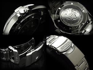セイコースーペリア men's automatic self-winding hand-wound watch black dial stainless steel belt SSA091K1